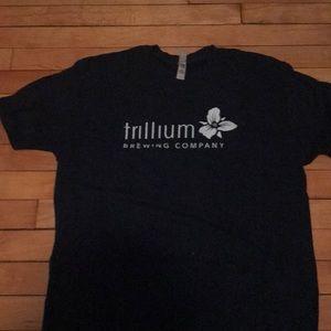 Dark Blue Trillium Brewing T Shirt